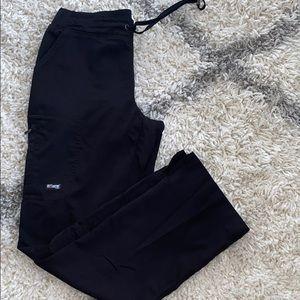 Black greys anatomy scrub pants